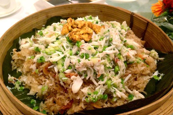 The Chairman Hong Kong - Chaire de crabe, riz gluant et feuilles de lotus