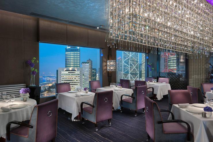 Pierre au Mandarin Oriental Hong Kong - Restaurant avec vue