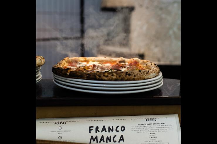 Franco Manca - Pizza dans le four