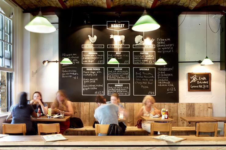 Honest Burgers - Intérieur d'un restaurant