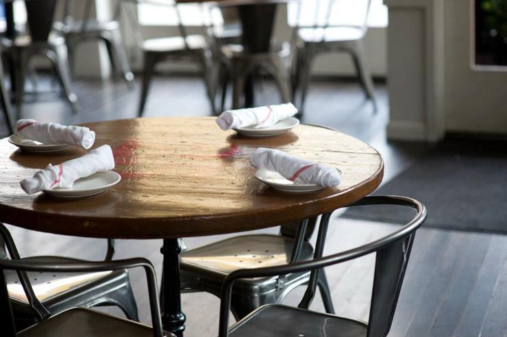 Corsino Cantina Italiana - Détail de la salle à manger