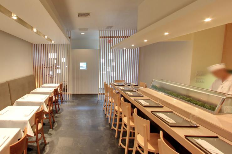 Soto - Intérieur simple et minimaliste de ce comptoir à sushis réputé