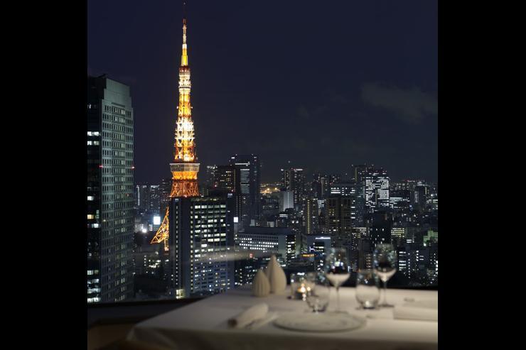 Pierre Gagnaire Tokyo au ANA InterContinental Tokyo - Vues sur la Tour de Tokyo