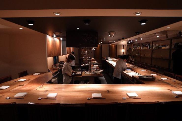 Intérieur du restaurant Shokkan à Shibuya