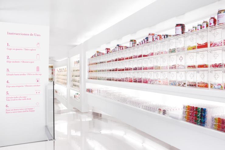 Happy Pills - Décor clinique pour cette confiserie étonnante