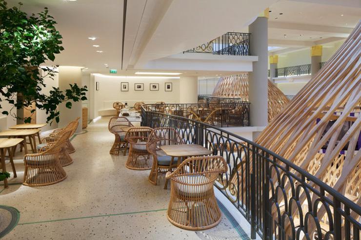 Le salon de thé du flagship store Hermès Rive Gauche
