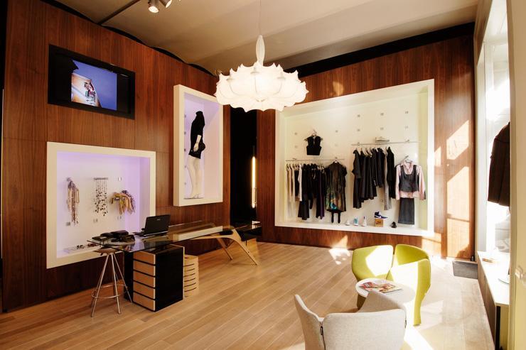 Intérieur de la boutique Klára Nademlýnská (Dlouhá)