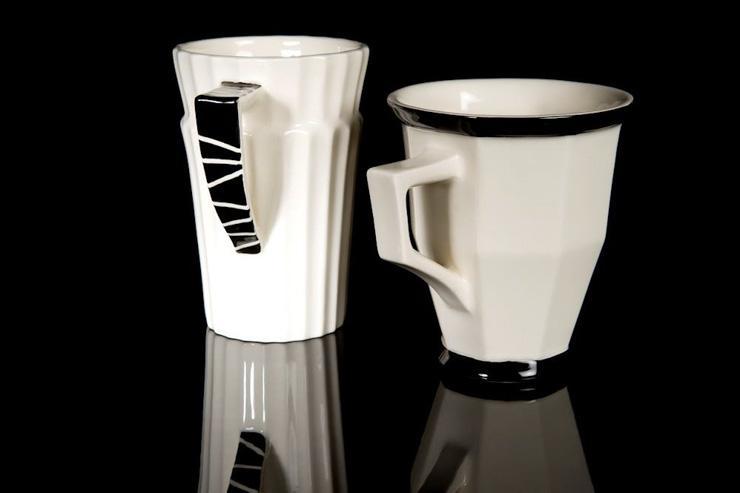 Kubista - Tasses en porcelaine