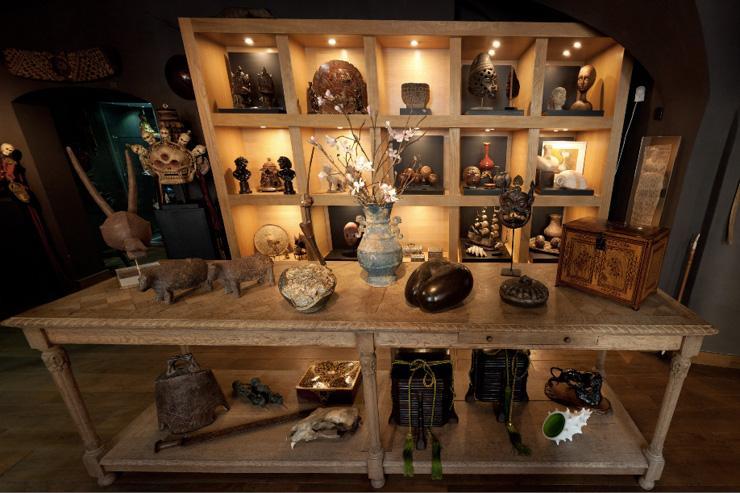 Kunstkomora - Intérieur du cabinet de curiosités