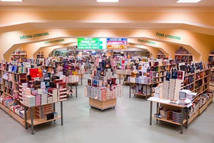Palac Knih Luxor - Intérieur de la plus grande librairie d'Europe Centrale