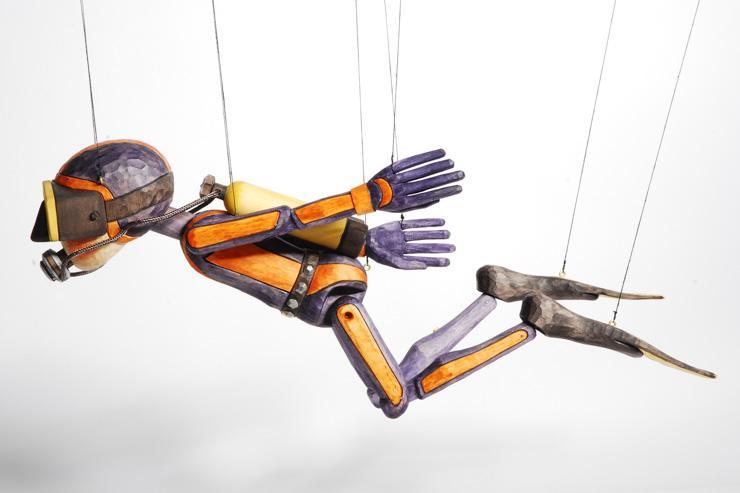 Modèle contemporain de marionette en bois par Truhlář Marionety