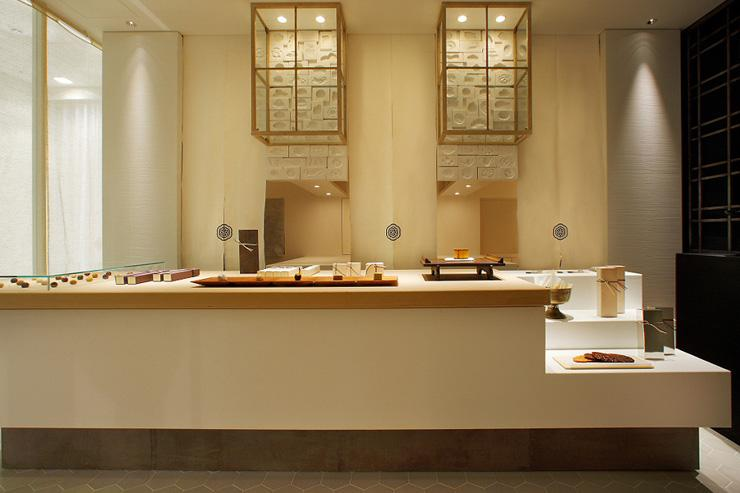Higashiya - Intérieur de la boutique de Ginza