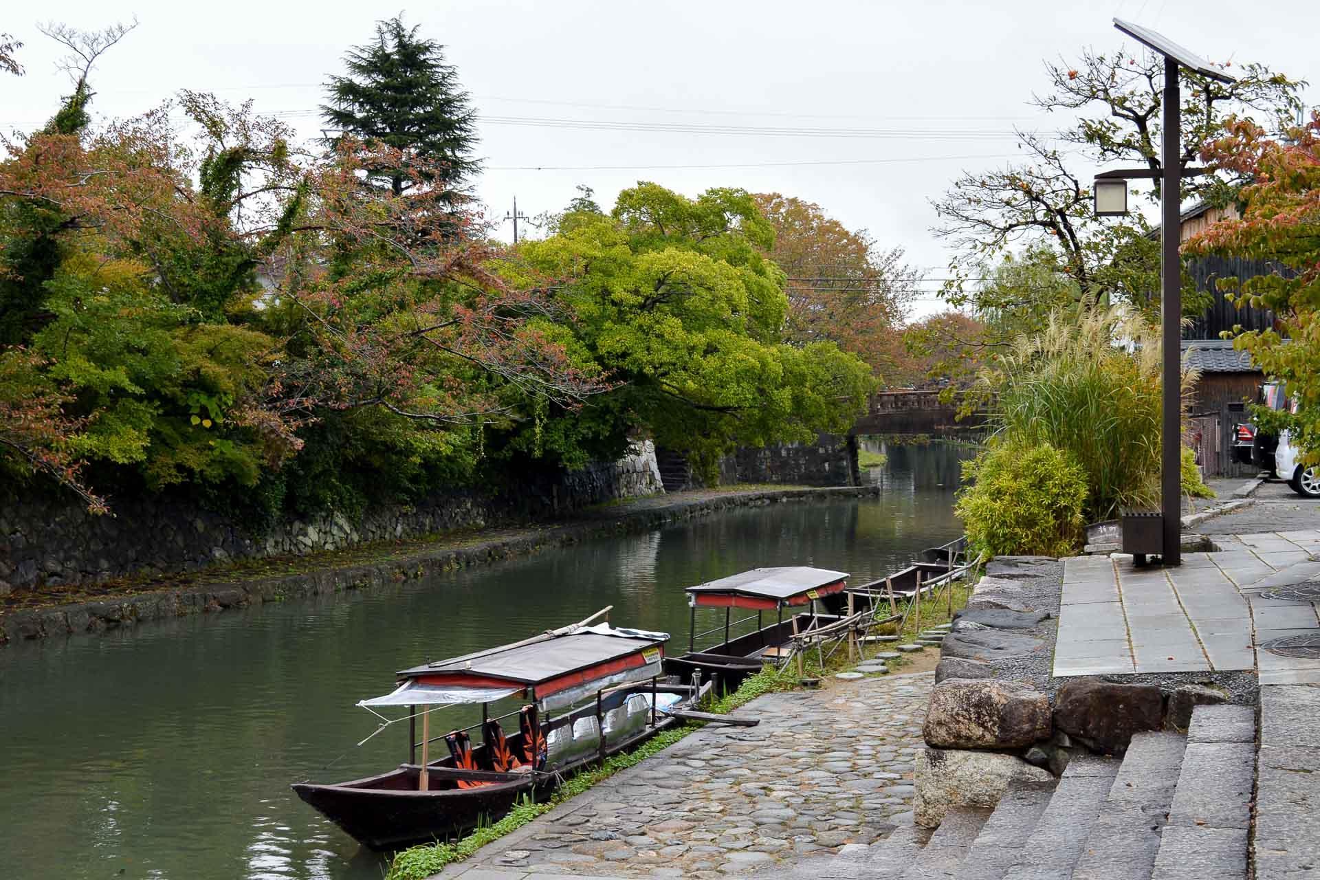 Les canaux de Omihachiman servent également de douves à l'ancienne forteresse.