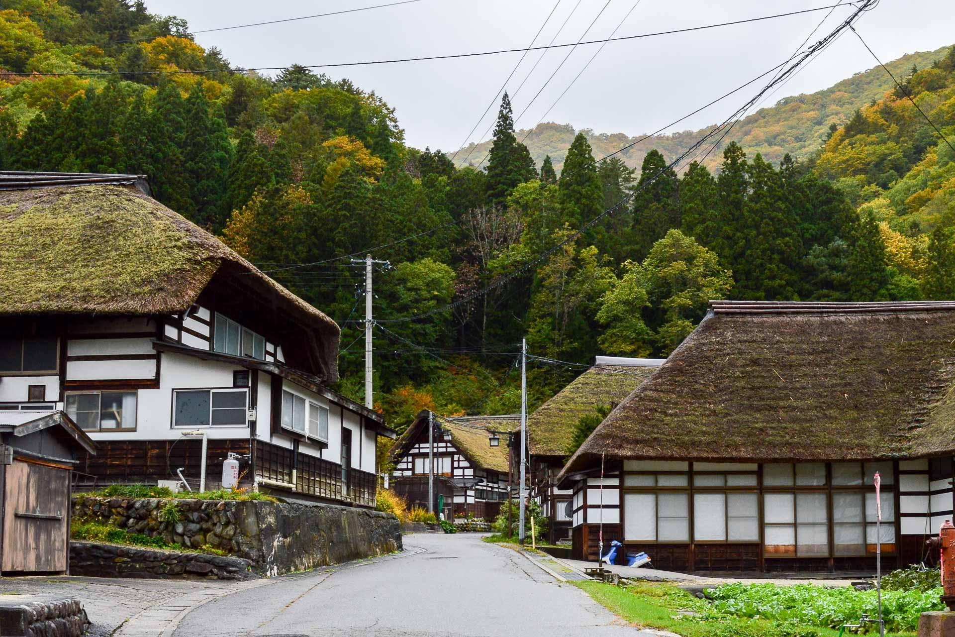 Le village reculé de Mazawa en automne.