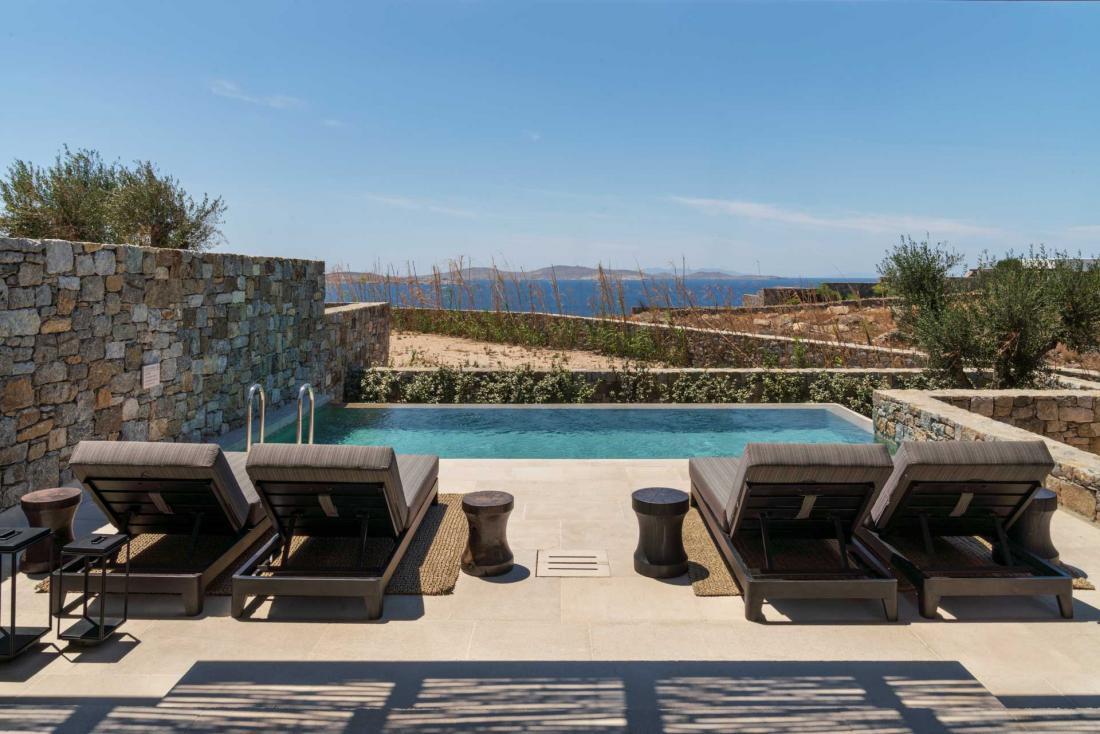 Kalesma Mykonos est le seul hôtel de l'île où chaque suite possède sa piscine