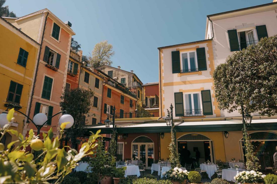 Décor de carte postale pour la seconde adresse signée Belmond à Portofino