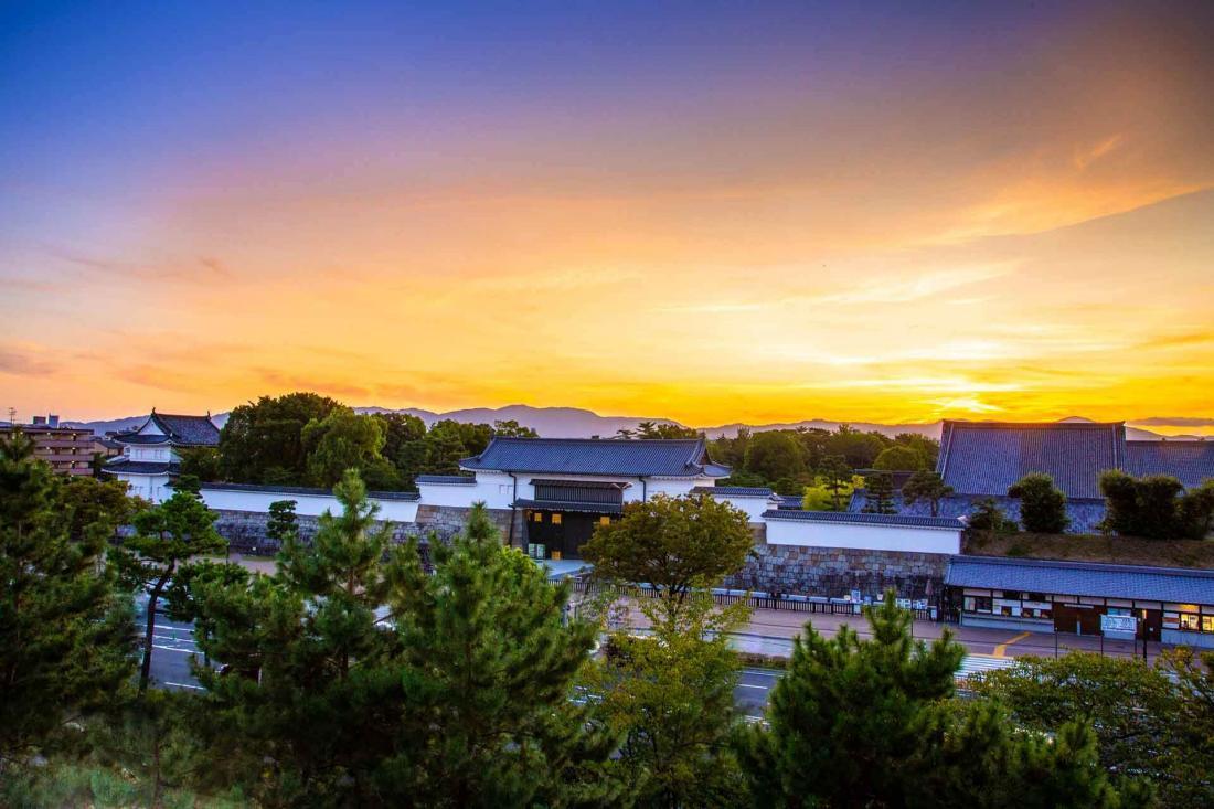 La vue sur Kyoto depuis l'une des chambres