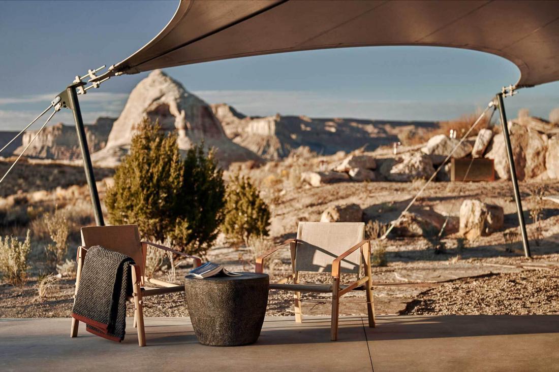 L'isolement du campement favorise la reconnexion avec la nature