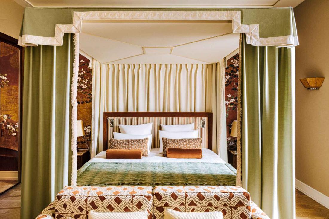 Les nouvelles chambres en camaïeux de cuivre, bronze et or