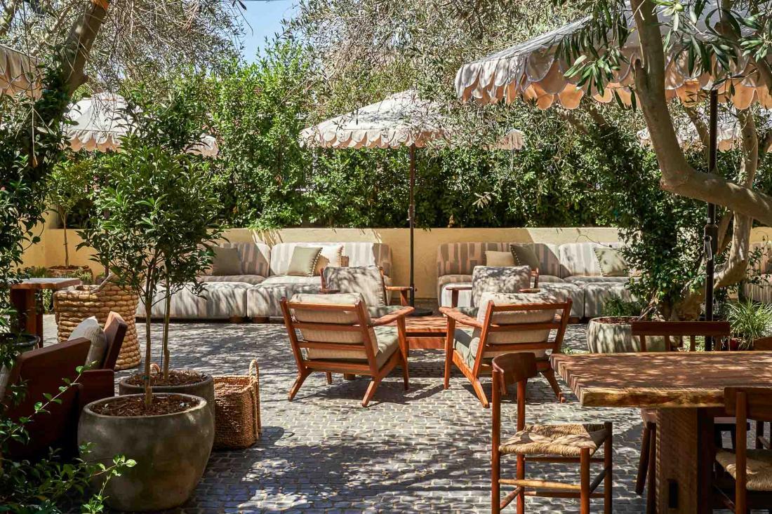 The Garden, jardin privé où déguster une cuisine méditerranéenne.