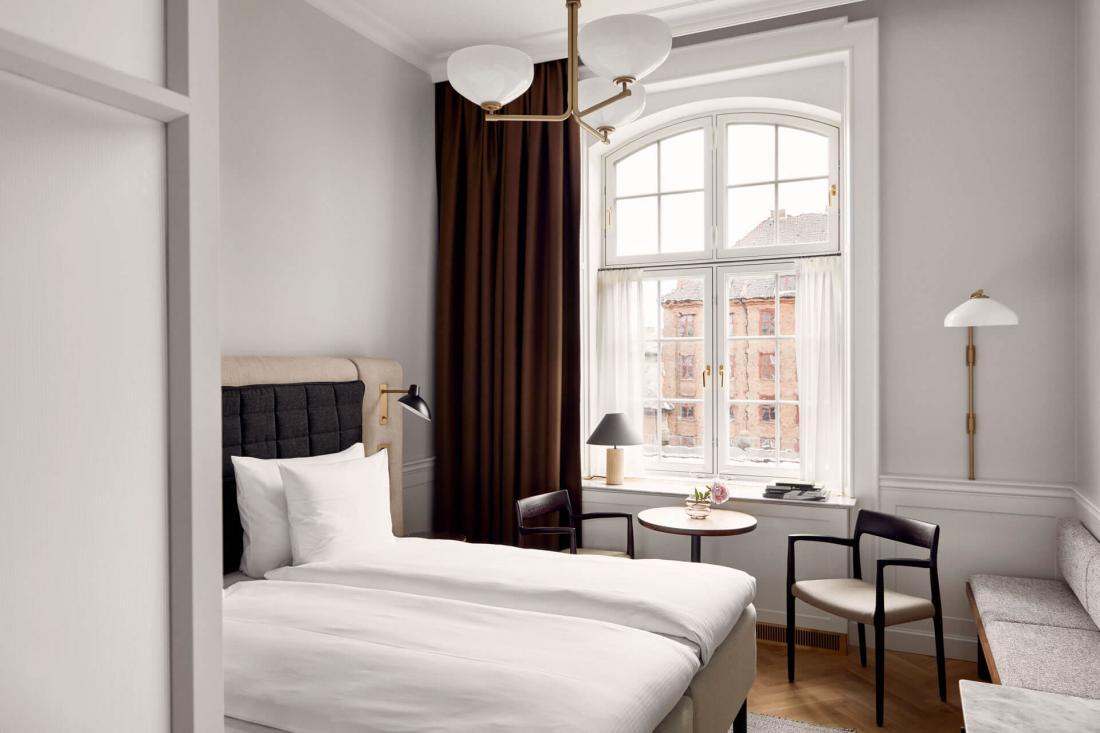 Dans les chambres se conjuguent luxe et style scandinave traditionnel et contemporain