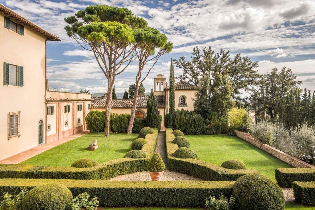 COMO Castello Del Nero - Jardin de l'hôtel