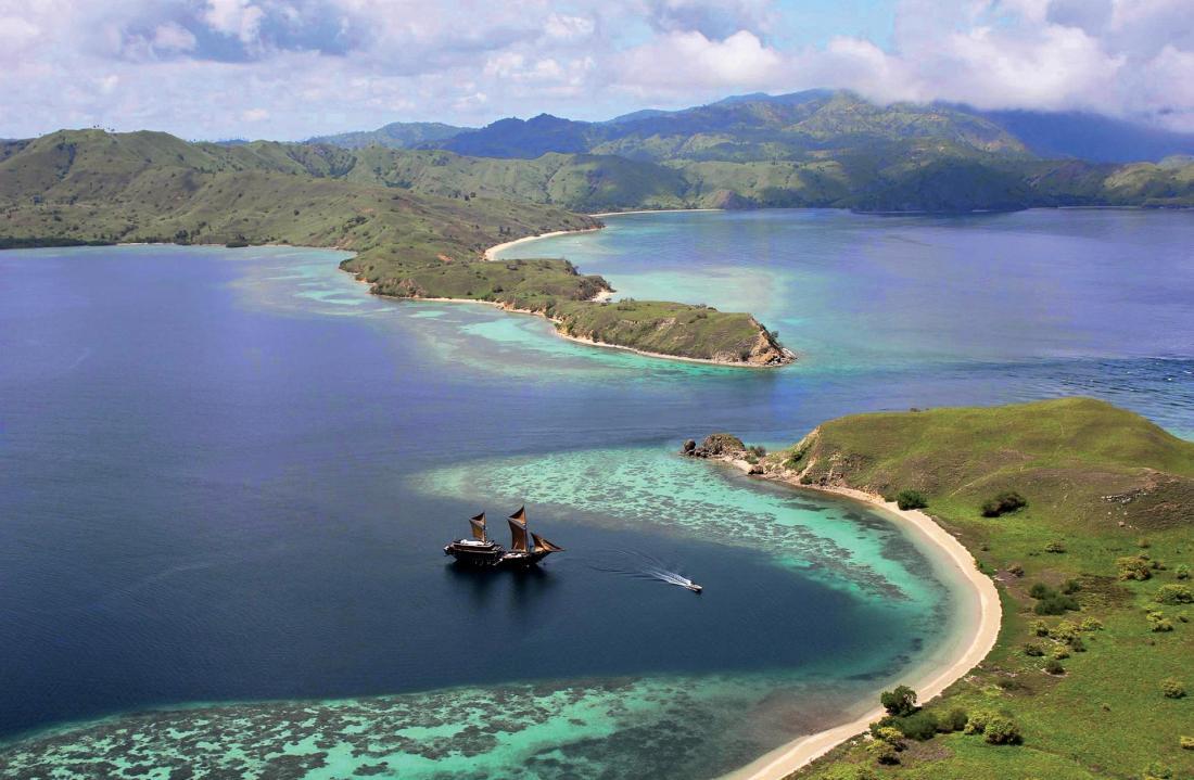 Cinq itinéraires proposés, avec ici la découverte de la mythique île de Komodo.