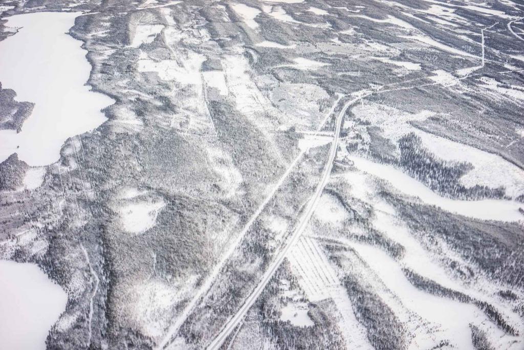 Vue aérienne, entre Kuusamo et Helsinki.