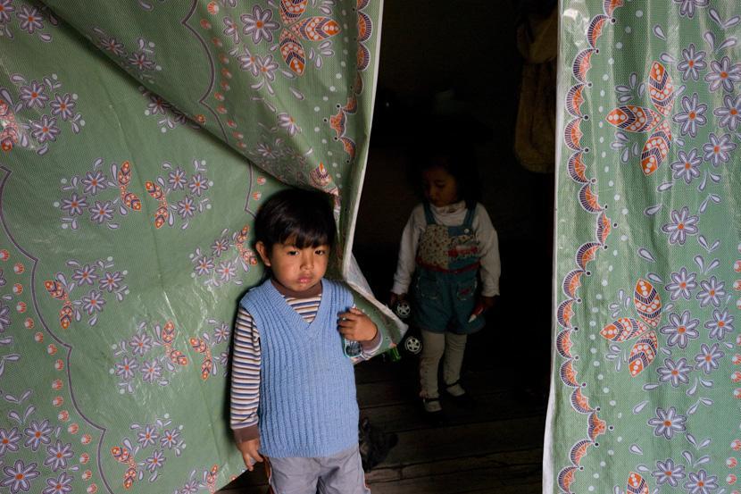 Dans la maison d'une famille modeste. Cuzco, Pérou - Mai 2008