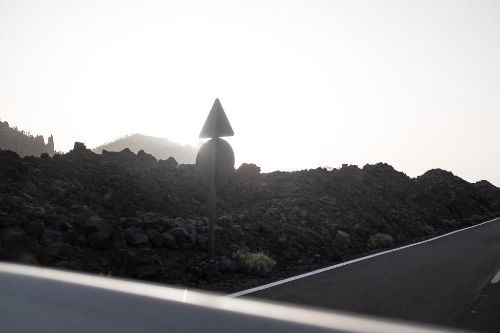 Le long de la TF21, en direction de la sortie sud du parc du Teide. Tenerife.