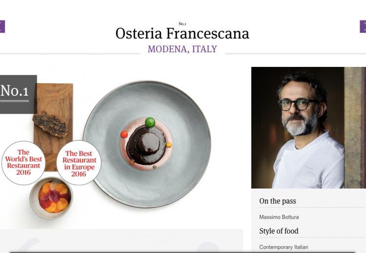 La liste des 50 meilleurs restaurants du monde en 2016 dévoilée aux