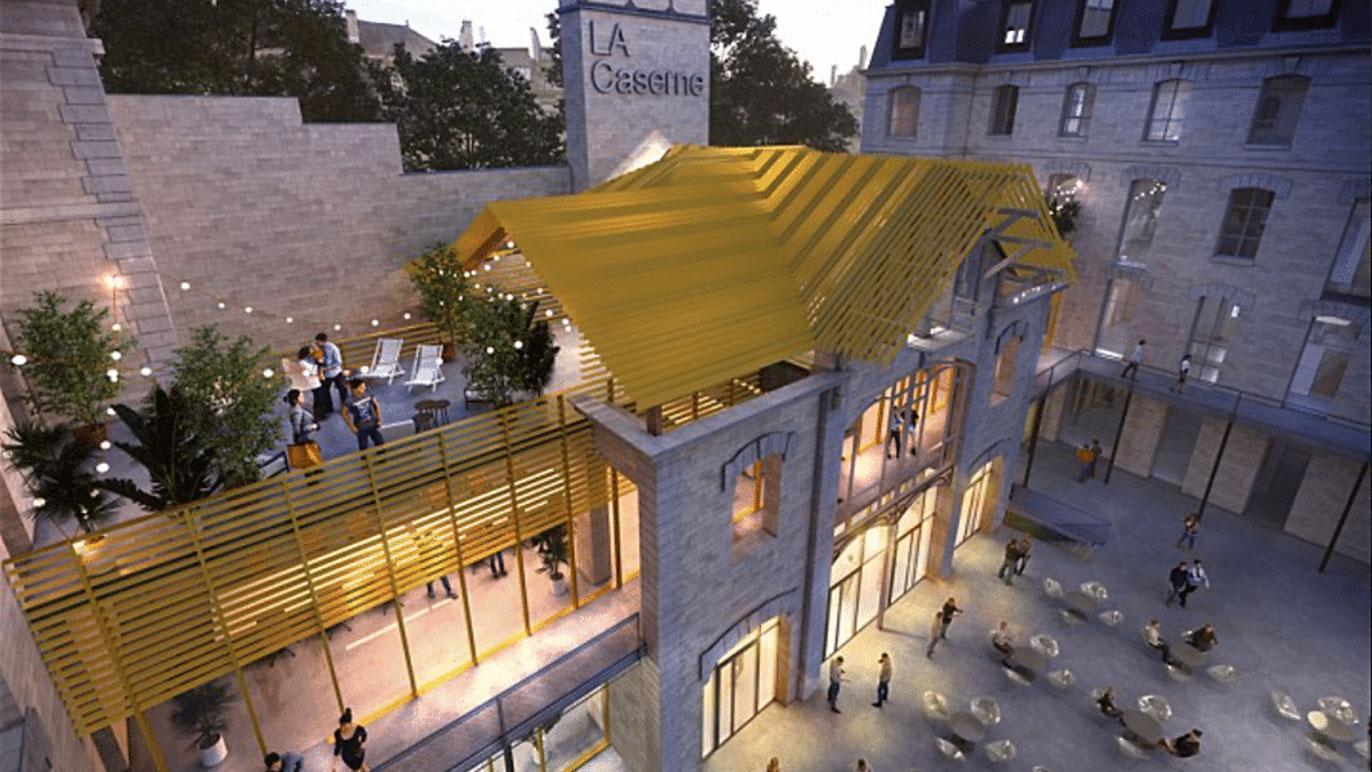 Le rooftop de la caserne de Château Landon © Mairie de Paris