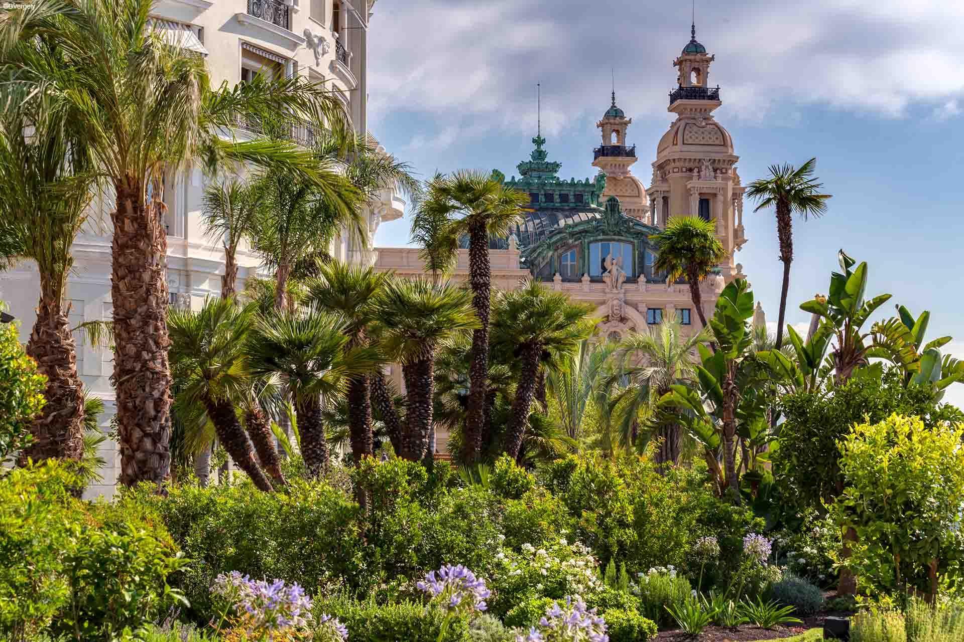 Les jardins de l'Hôtel de Paris avec vue sur le casino © B. Vergely