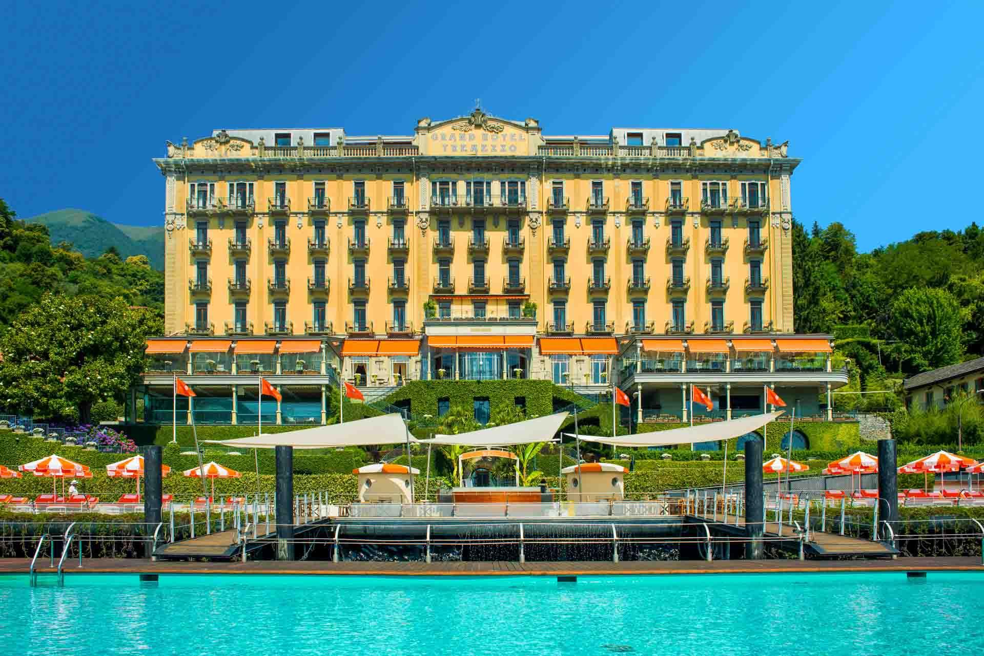 Arrivée au Grand Hotel Tremezzo par le lac © DR
