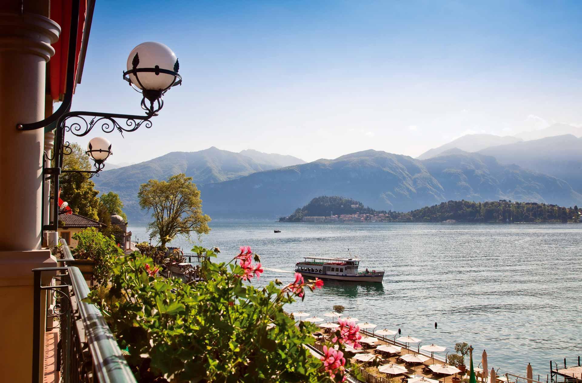 Vue sur le lac de Côme depuis le Grand Hotel Tremezzo © DR