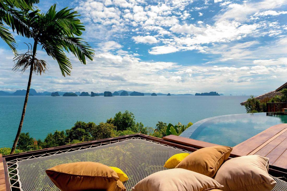 La vue imprenable sur la baie de Phang Nga au Six Senses Yao Noi © DR