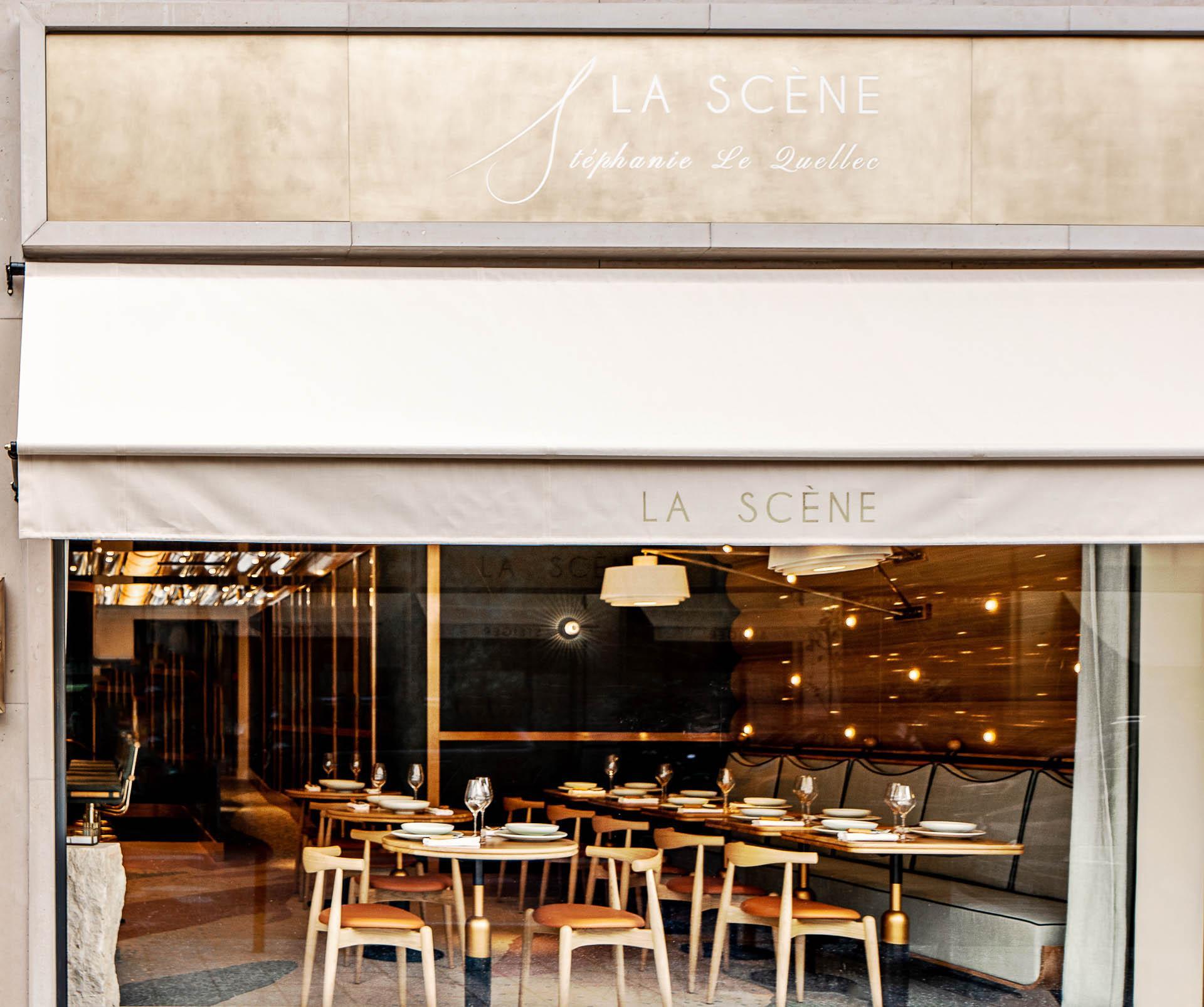 La Scène par Stéphanie Le Quellec - Le restaurant vu depuis l'avenue Matignon © Benoit Linero