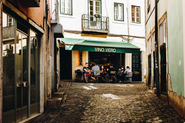 La terrasse du Vino Vero, égarée dans une petite ruelle typique.