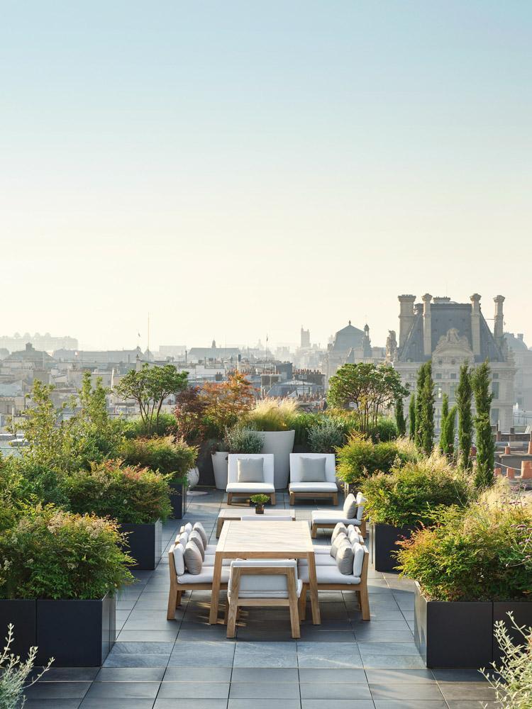 La terrasse de la Suite Belle Étoile © Le Meurice