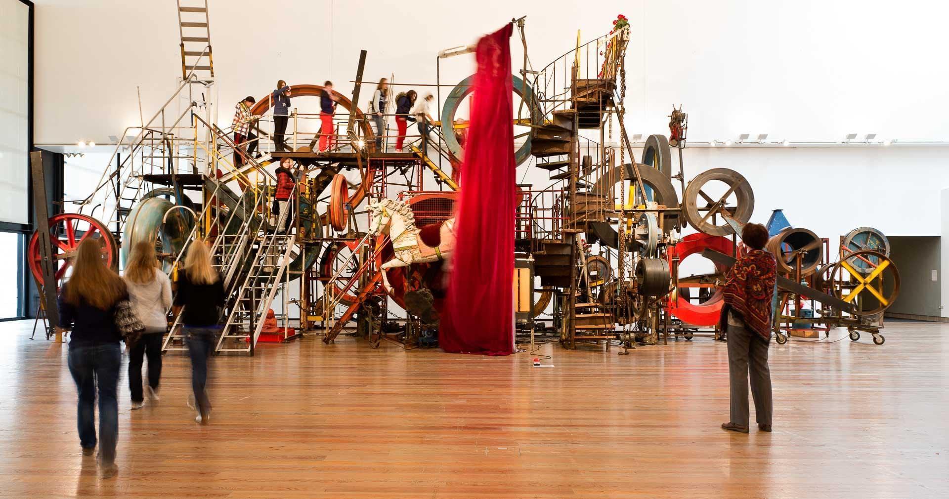 Les installations mouvantes au Musée Tinguely. © Museum Tinguely.