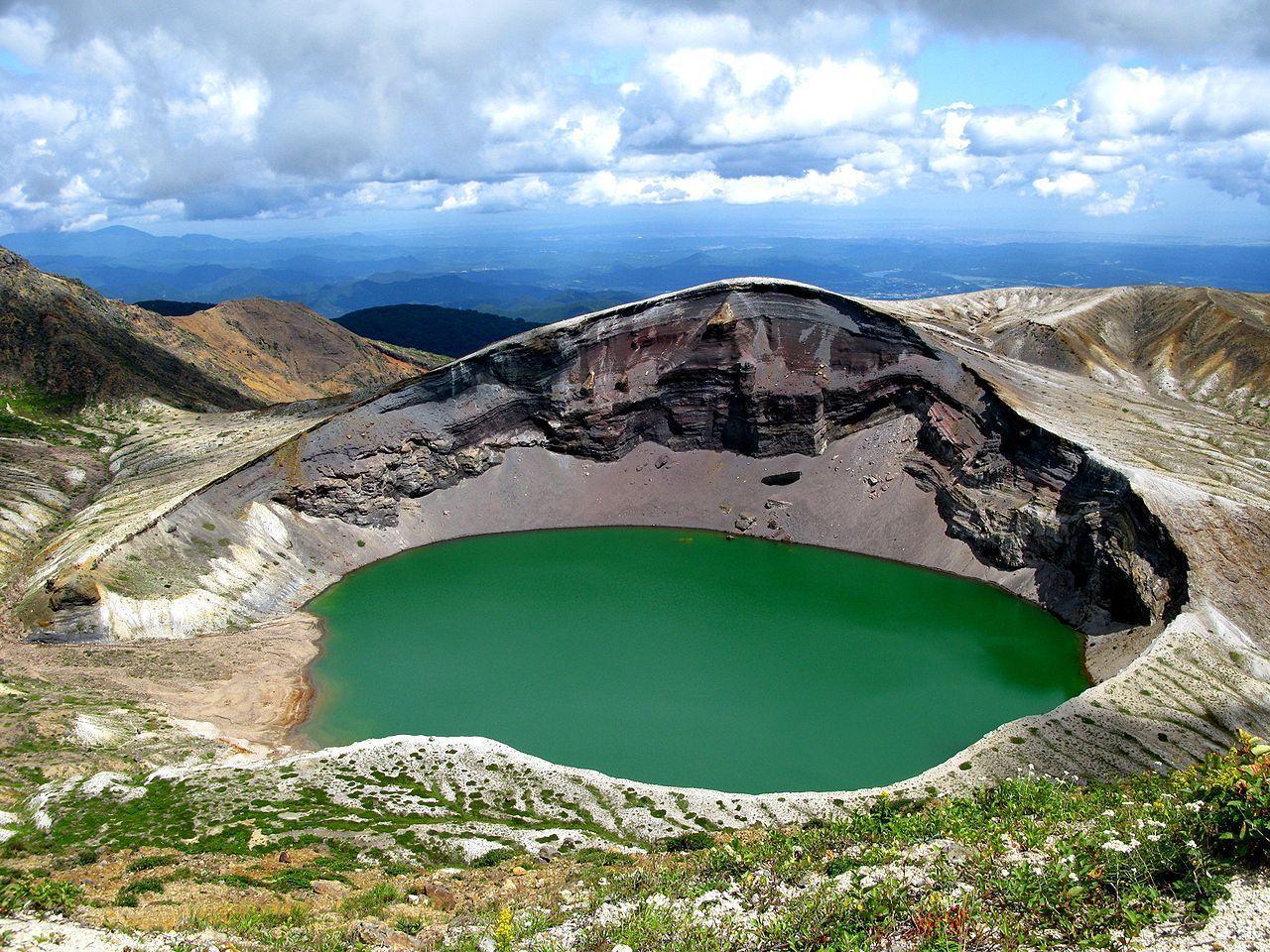 Le cratère est appelé okama à cause de sa forme, ce qui signifie marmite.© Pierre Gunther