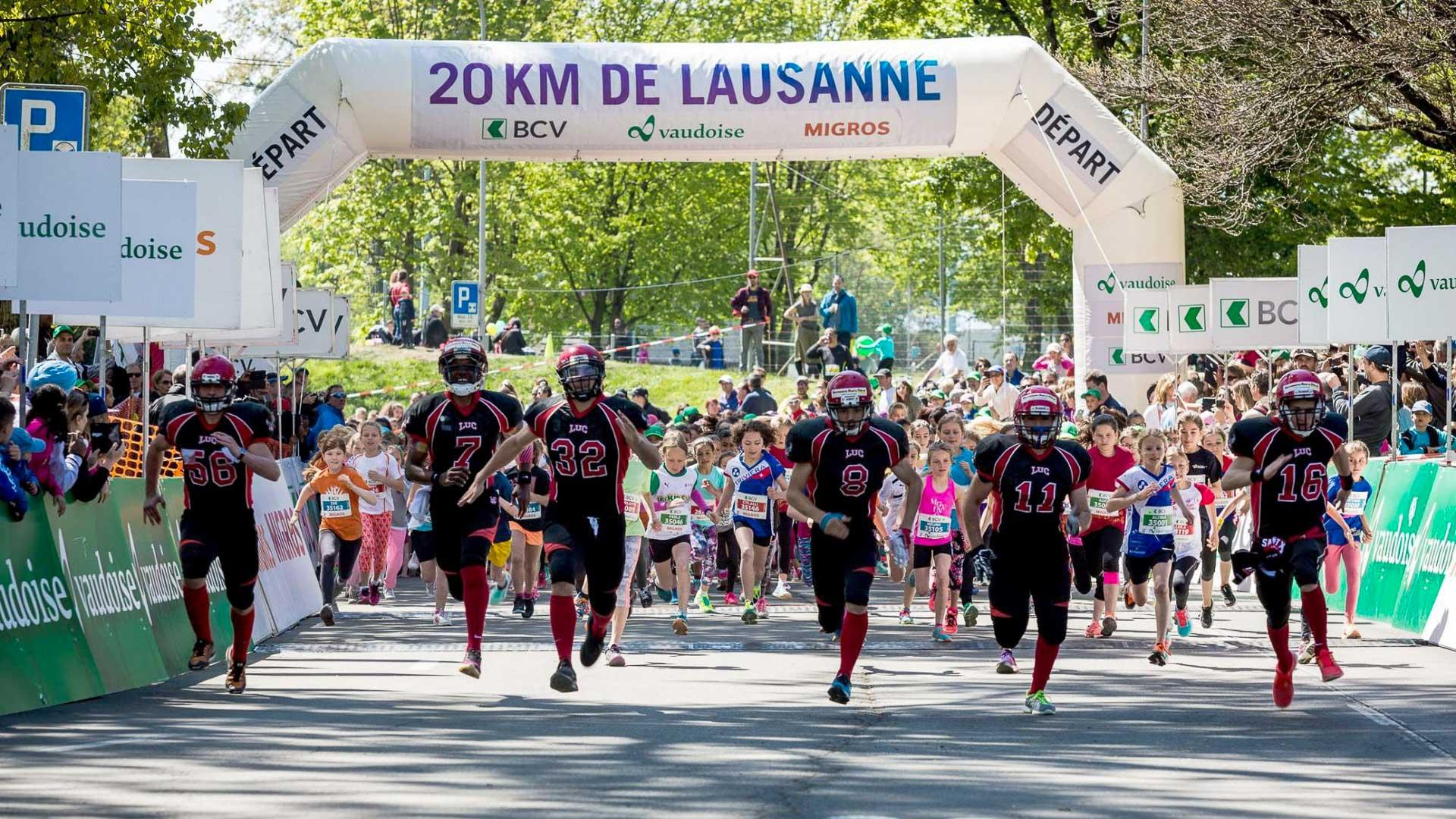 Les 20KM de Lausanne, une course qui rassemble des dizaines de milliers de coureurs © Florian Aeby