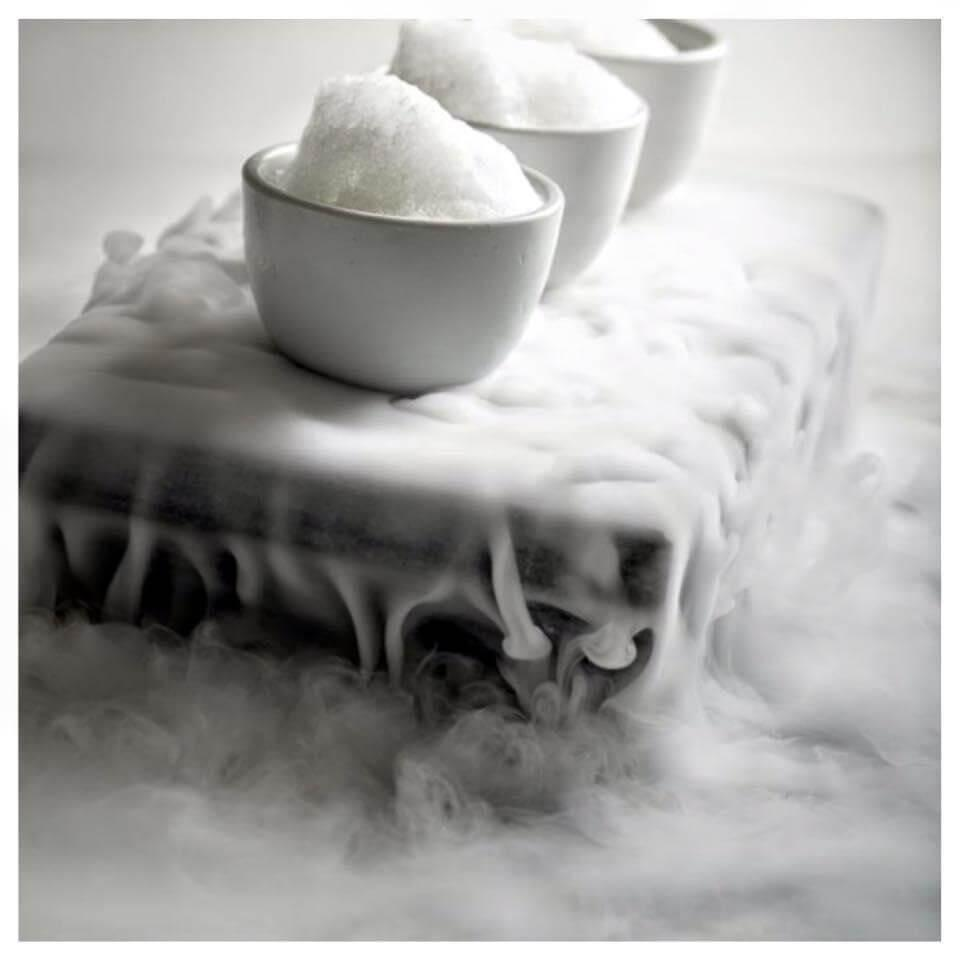 Brume des glaces au yuzu © Restaurant Europea
