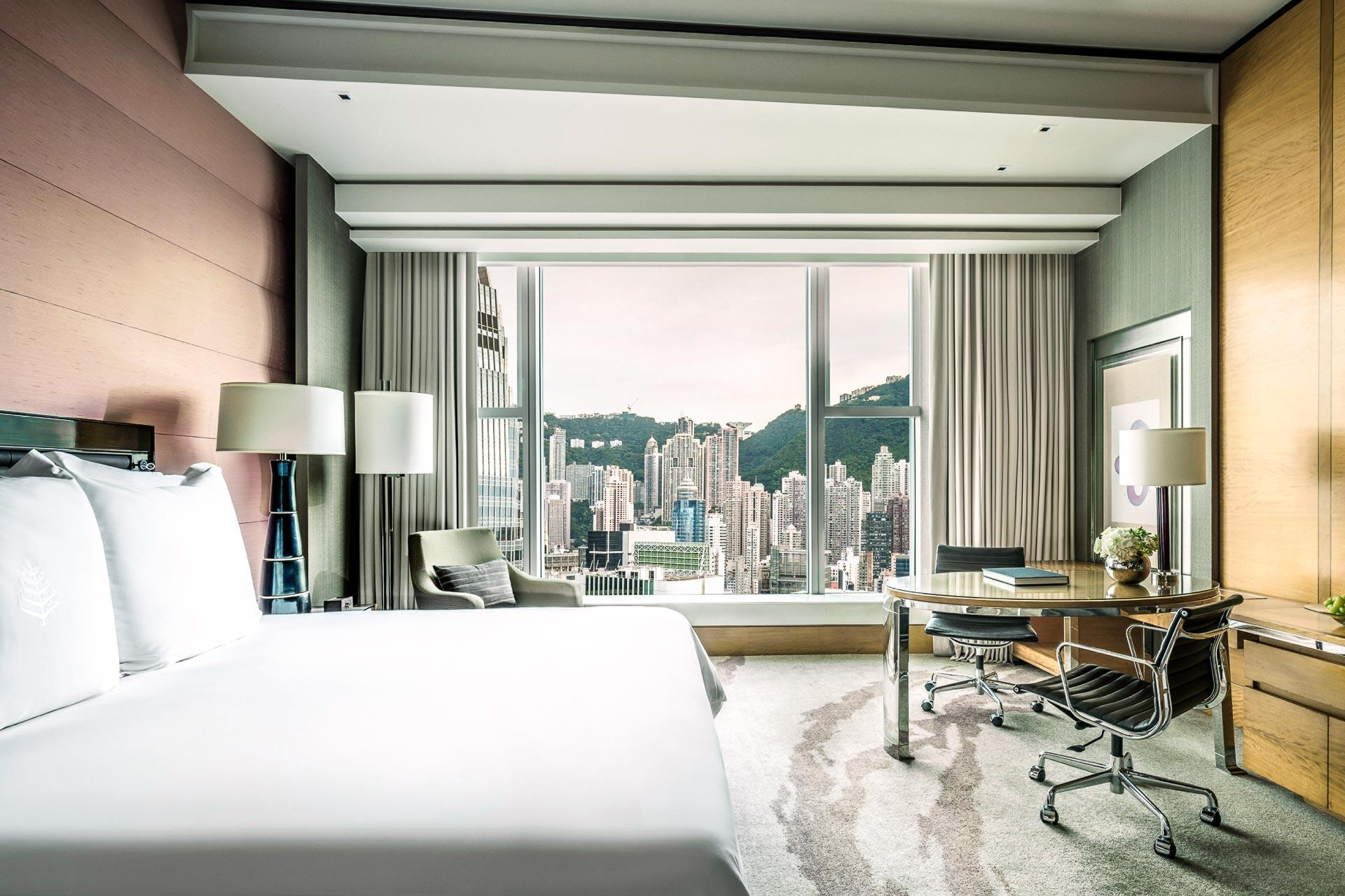 Four Seasons Hong Kong – Chambre côté Victoria Peak © Four Seasons