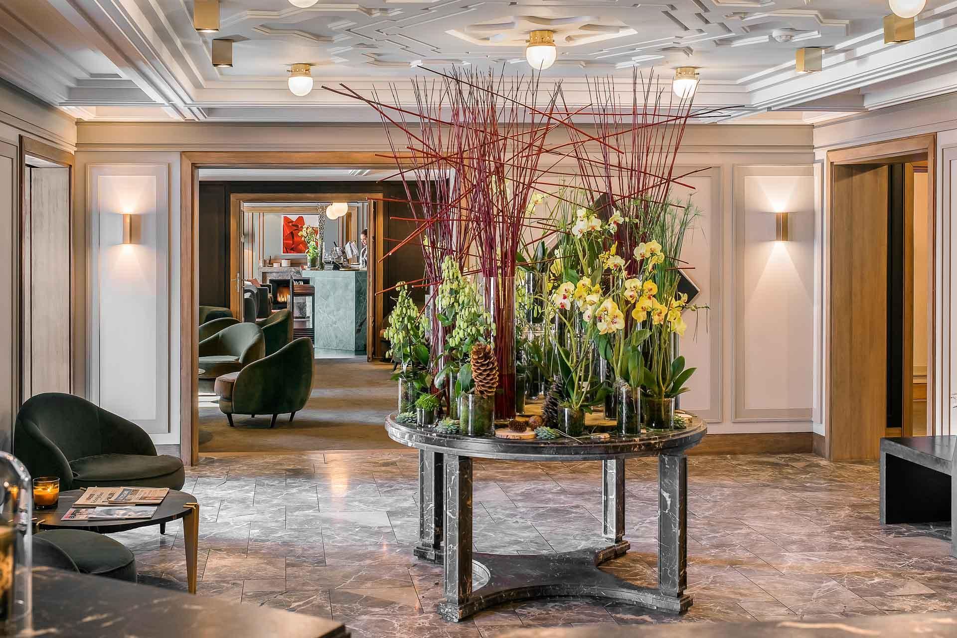 Le lobby de L'Apogée.