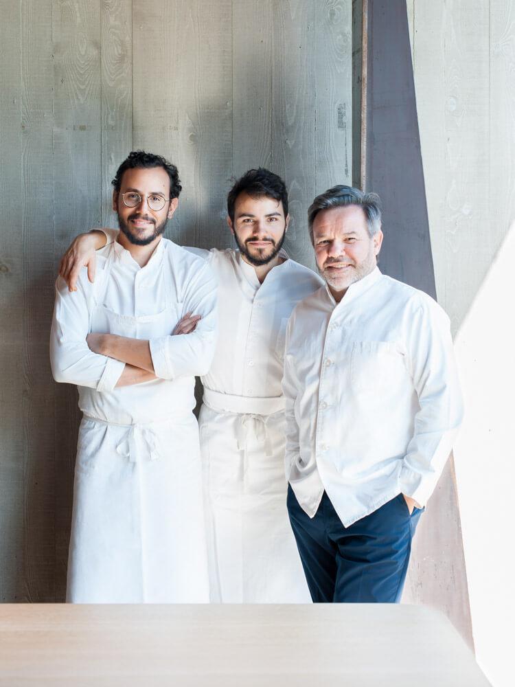 César, Léo et Michel Troisgros © Félix Ledru