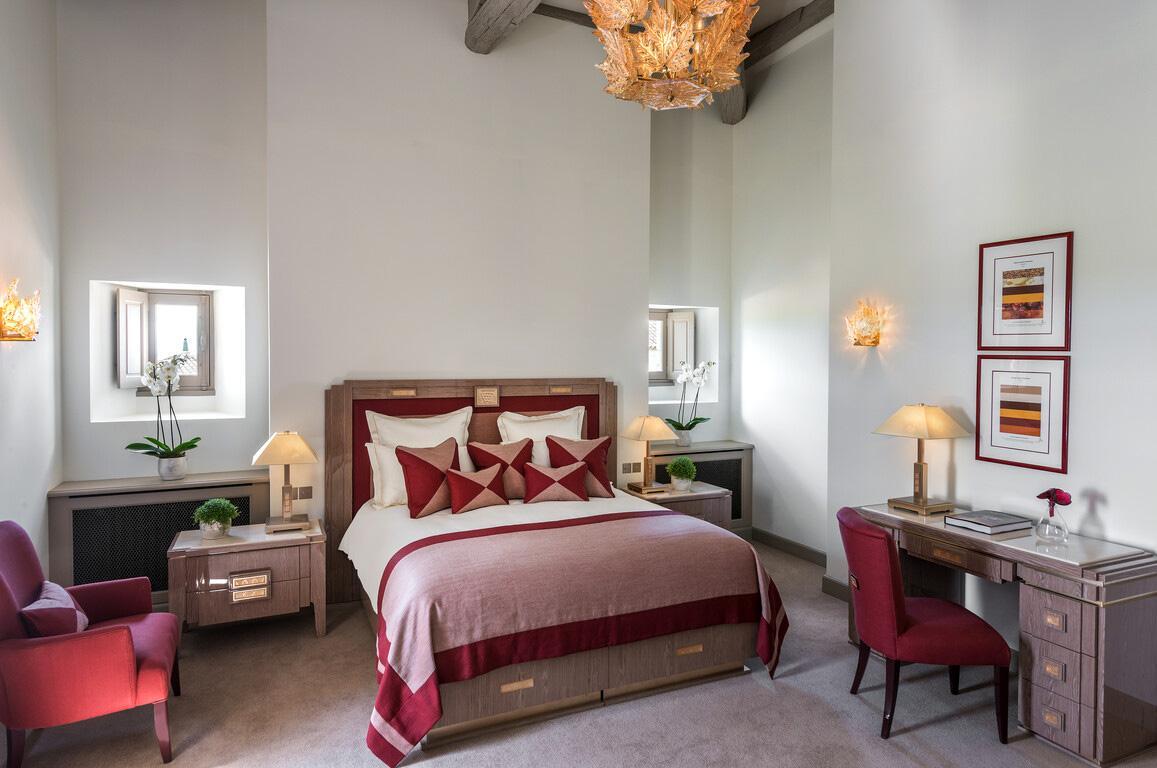 Les chambres tout confort du Château Lafaurie-Peyraguey Lalique © DR