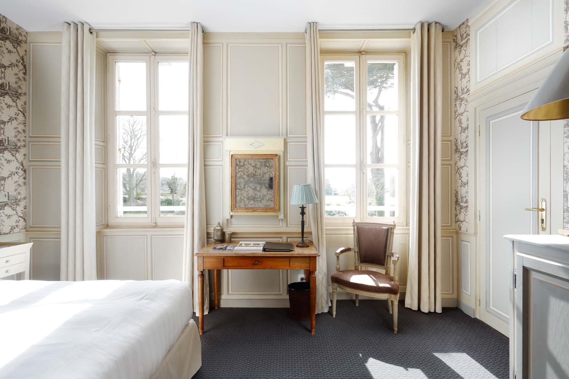 Chambre 102 à La Chenevière © Philippe Beuf