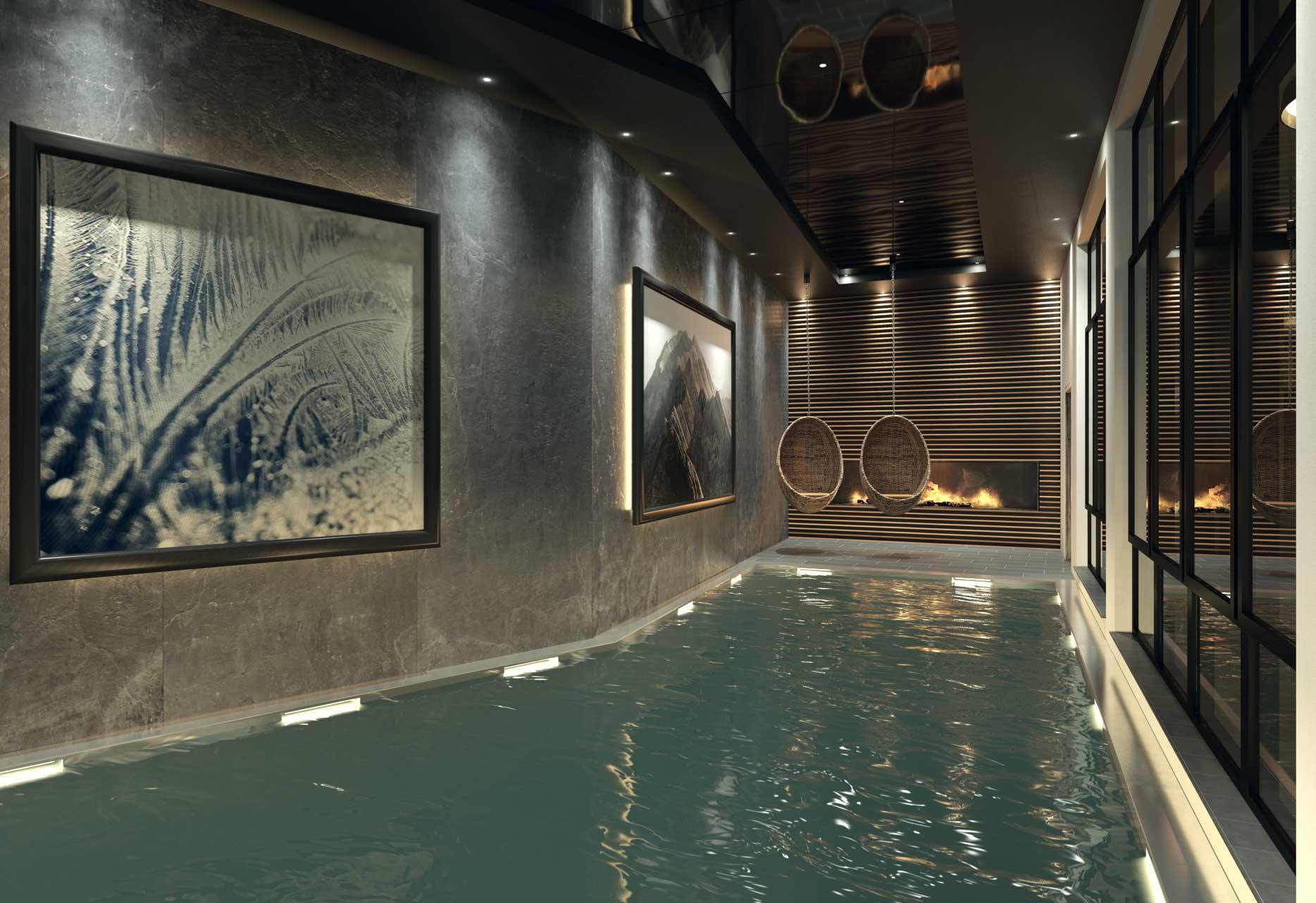 La piscine dans le Chalet Aspen