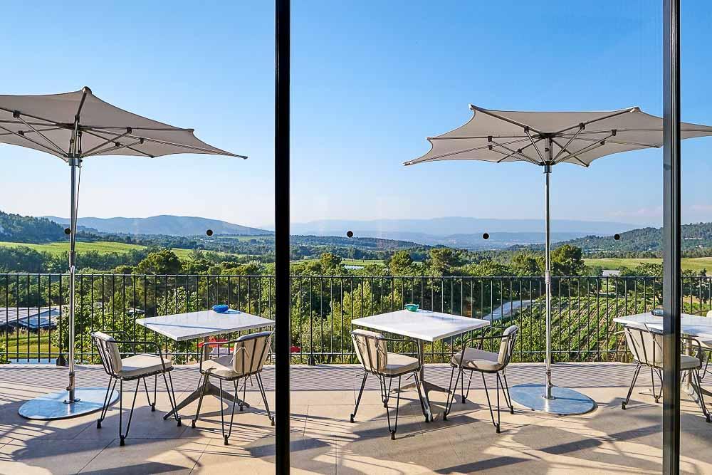 Vue sur les vignes à la Villa La Coste © Richard Haughton